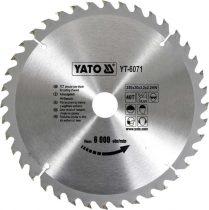 Yato YT-6071 Fűrésztárcsa fához 250x40x30 keményfémlapkás