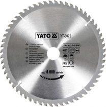Yato YT-6072 Fűrésztárcsa fához 250x60x30 keményfémlapkás