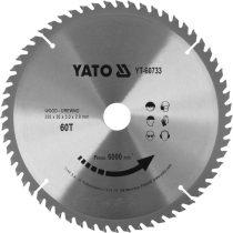 YATO Fűrésztárcsa fához 255x30mm 60T
