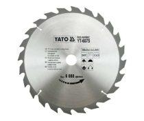 Yato YT-6075 Fűrésztárcsa fához 300x24x30 keményfémlapkás