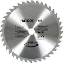 Yato YT-6076 Fűrésztárcsa fához 300x40x30 keményfémlapkás