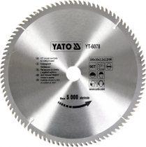 Yato YT-6078 Fűrésztárcsa fához 300x96x30 keményfémlapkás