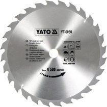 Yato YT-6080 Fűrésztárcsa fához 350x28x30 keményfémlapkás