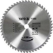 Yato YT-6082 Fűrésztárcsa fához 350x54x30 keményfémlapkás
