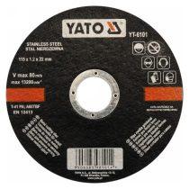 Yato YT-6101 Vágókorong fémre 115x1,2x22 INOX