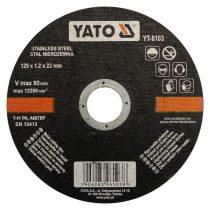 Yato YT-6103 Vágókorong fémre 125x1,2x22 INOX