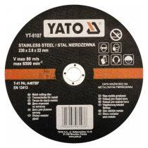 Yato YT-6107 Vágókorong fémre 230x2x22 INOX