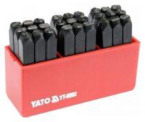 YATO Betűbeütő készlet 6mm 27 részes