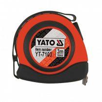 YATO Mérőszalag 3 m/16 mm, mágneses, nylon bevonatú