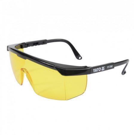 Yato YT-7362 Védőszemüveg 9844 sárga EN 166:2001