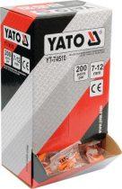 YATO Füldugó 7-12 mm (200 pár/doboz)