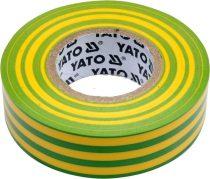 YATO Szigetelőszalag 19 x 0,13 mm x 20 m zöld-sárga