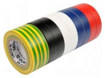 YATO Szigetelőszalag 19 x 0,13 mm x 20 m (10 db) öt színnel