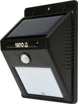 YATO Napelemes fali LED lámpa mozgásérzékelős