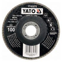 YATO Lamellás csiszolókorong lapos 125 x 22,2 mm P36