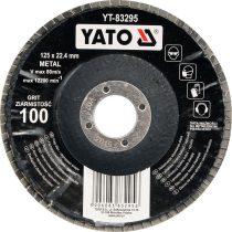 YATO Lamellás csiszolókorong döntött 125 x 22,2 mm P80